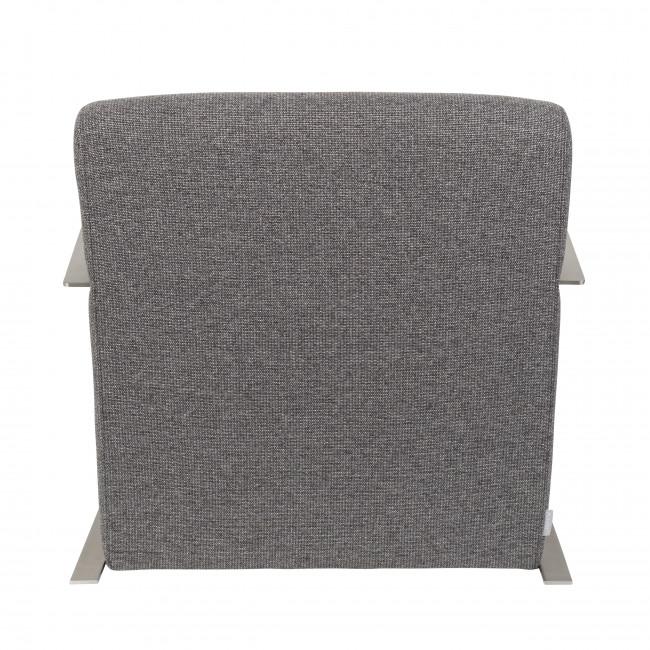 Fauteuil lounge tissu & inox Adwin Zuiver gris fonce