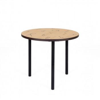 Table basse à motifs lettres ø50cm Arty