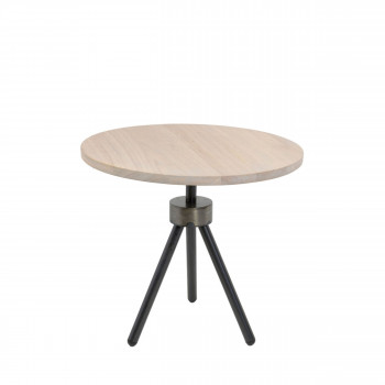 Table d'appoint industrielle ø50cm Anna