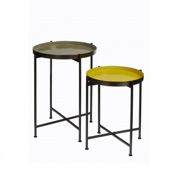 Lot de 2 tables basses plateau amovible Favorit'