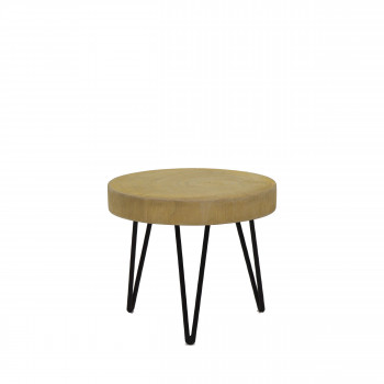 Table d'appoint en métal et bois So Pure