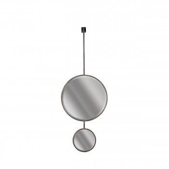 Miroir double suspendu métal XL Chain