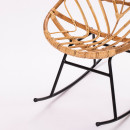 Rocking chair en rotin Ette