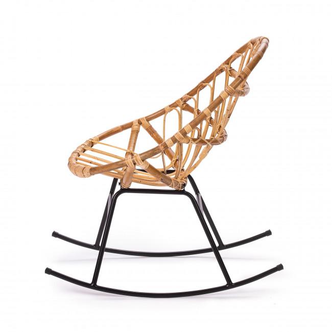 Rocking chair en rotin Ette