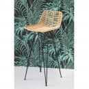 Chaise de bar design en rotin 67cm Capurgana