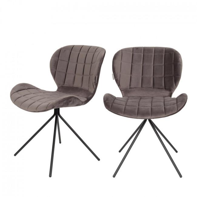 Lot de 2 chaises velours OMG Zuiver