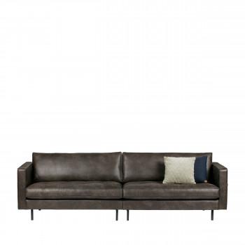 Canapé classique 3,5 places vintage Bronco noir