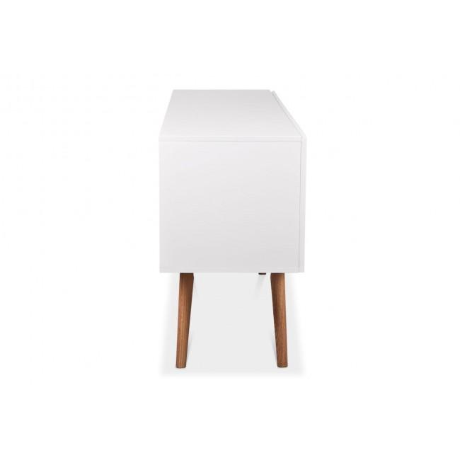 Buffet design 2 portes High Wood de cote blanc