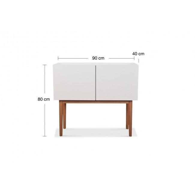 Buffet design 2 portes High Wood blanc
