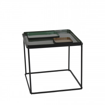 Table basse carrée en fer Skar Pomax