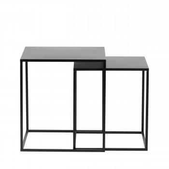 Lot de 2 tables basses en métal Ziva