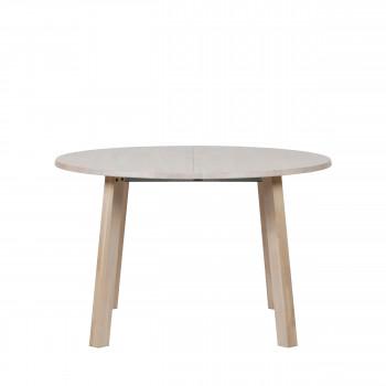 Table à manger extensible 120-200x120 cm en bois Lange Jan