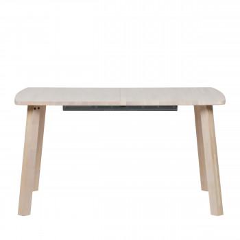 Table à manger extensible 140-220x85 cm en bois Lange Jan