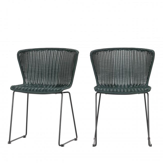 2x chaise en rotin tressé Wings naturel