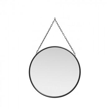 Miroir rond en métal Downtown