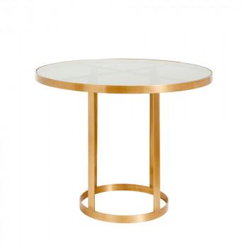 Table d'appoint en verre et métal Soholm