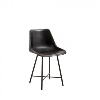 Chaise en cuir Hollose