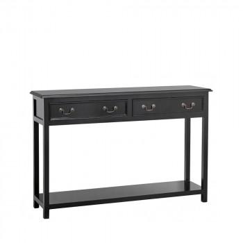 Console 2 tiroirs en bois Baek