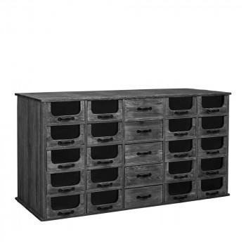Buffet en bois 25 tiroirs Pharmacy