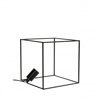 Lampe cube en métal Square