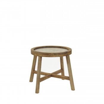 Table basse en bois ø40 cm Sarastro