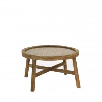 Table basse en bois ø55 cm Sarastro
