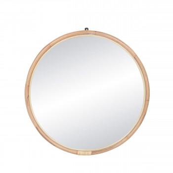 Miroir en rotin ø86 cm Sam