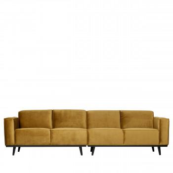 Canapé 4 places en velours Statement