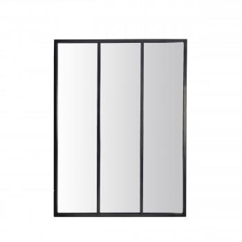 Louvil - Miroir verrière en métal 90x120 cm