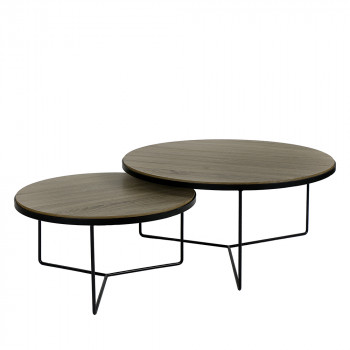 Lot de 2 tables basses en métal Miso