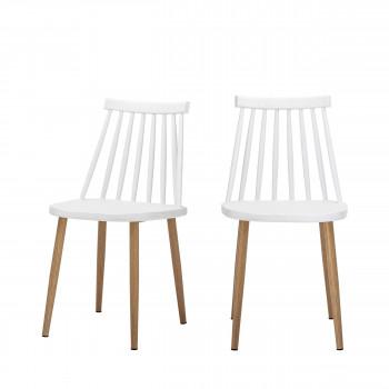 Bajo - 2 chaises à barreaux en métal