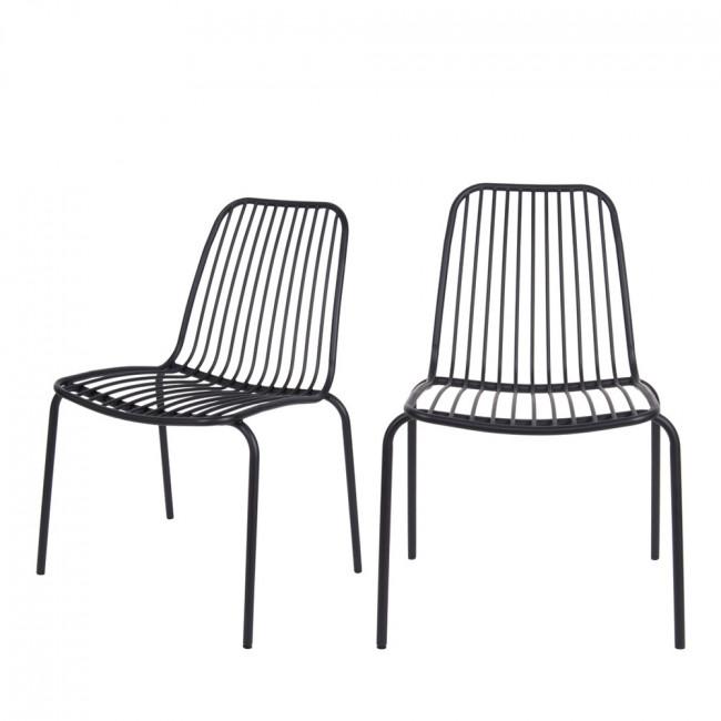Lineate - 2 Chaises de jardin en métal