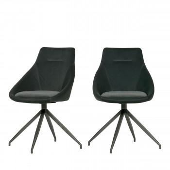 Resa - 2 chaises en velours