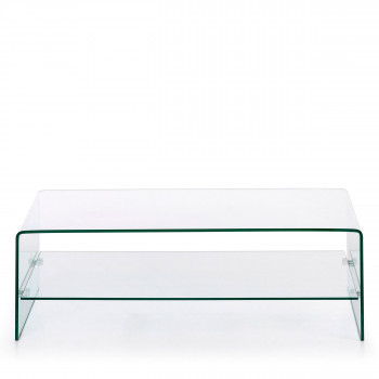 Burano - Table basse en verre 110x55 cm