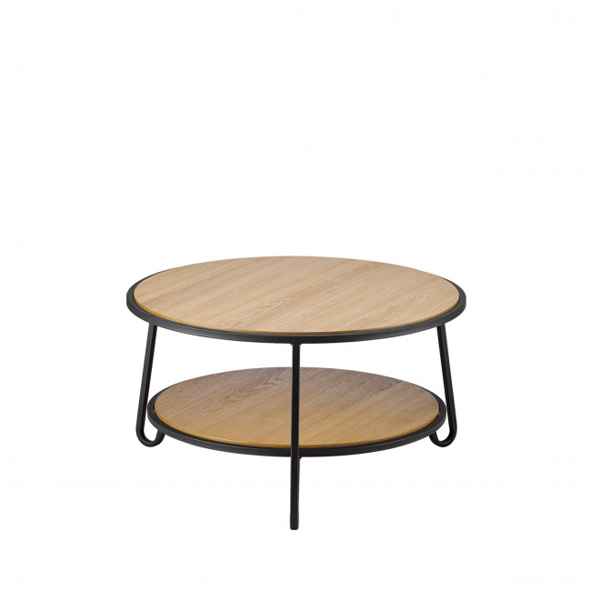 Mooste - Table basse en bois et métal
