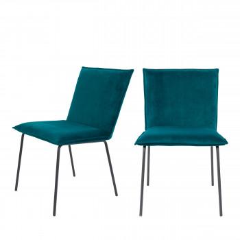 Floke - 2 chaises en velours