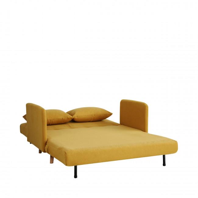 Canapé convertible 2 places Belushi jaune moutarde