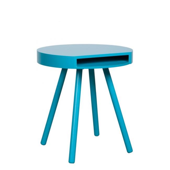 Table d'appoint vide-poche Hide & Seek bleue