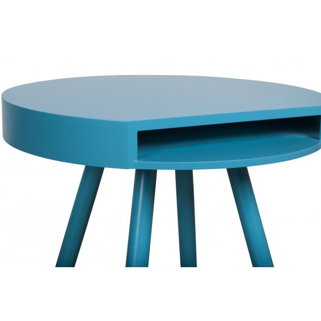 Table d'appoint vide-poche Hide & Seek bleue detail plateau