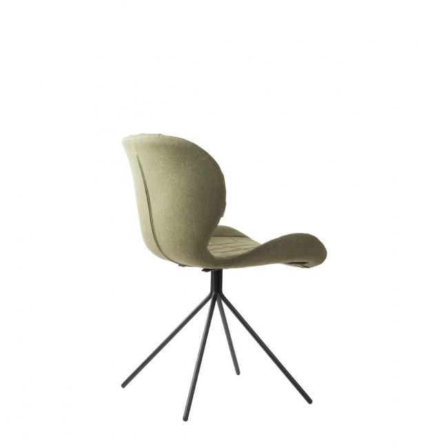 Lot de 2 chaises design OMG verte de dos