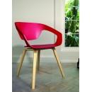 Lot de 2 chaises design scandinave Danwood rouge et bois clair rouge ambiance