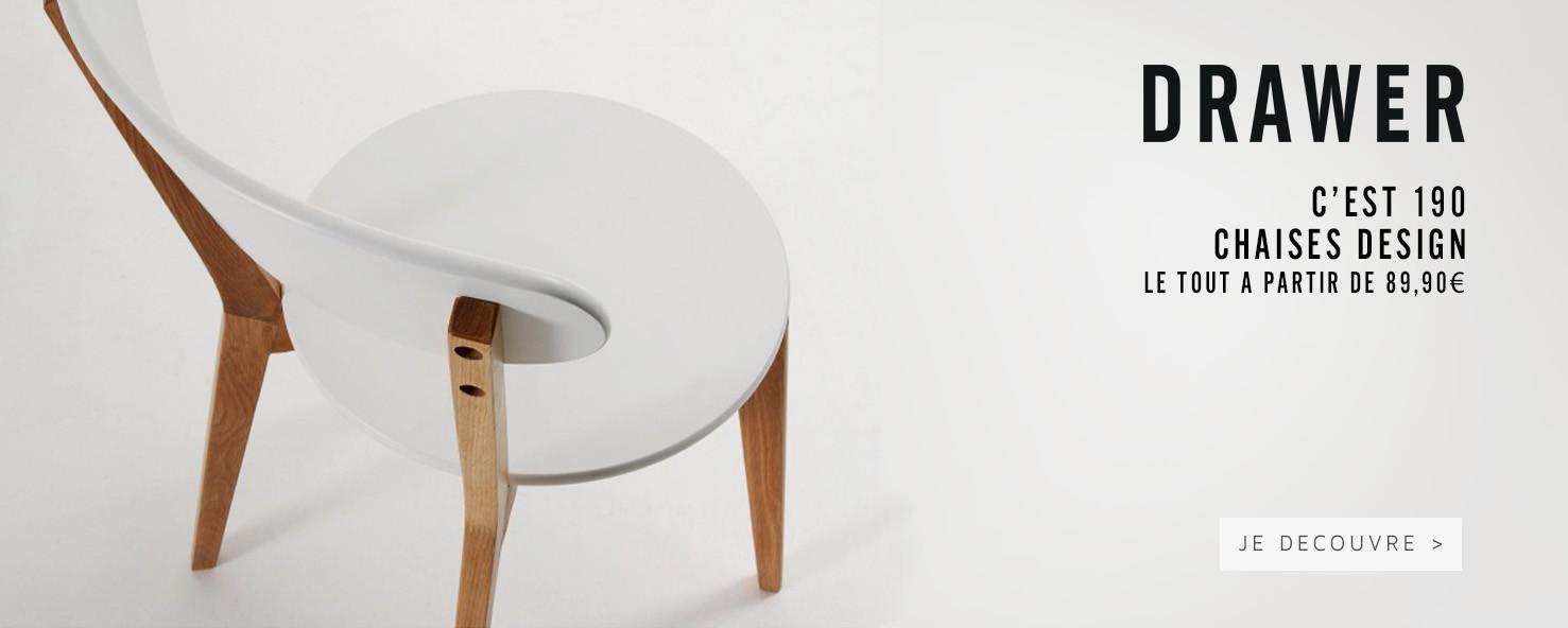 Découvrez nos 190 chaises design à prix doux !
