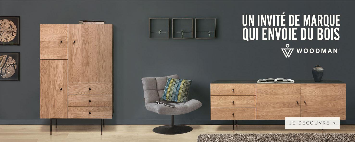 Découvrez toute notre selection d'objets design de la marque Woodman !