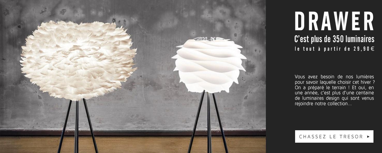 Découvrez plus de 350 luminaires design !